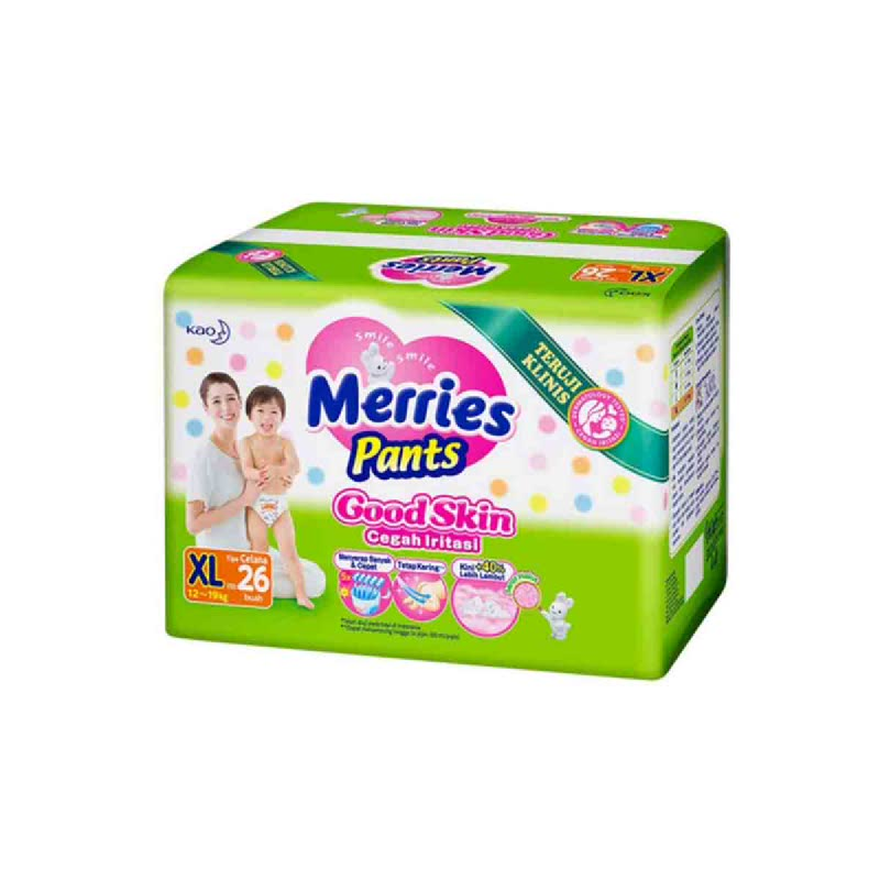 Merries Diaper Pants Good Skin XL 26S