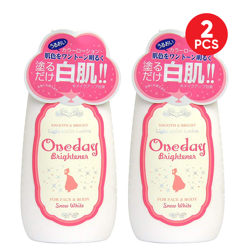 Snow White One Day Brightener Face & Body Lotion 120ml (2pcs)