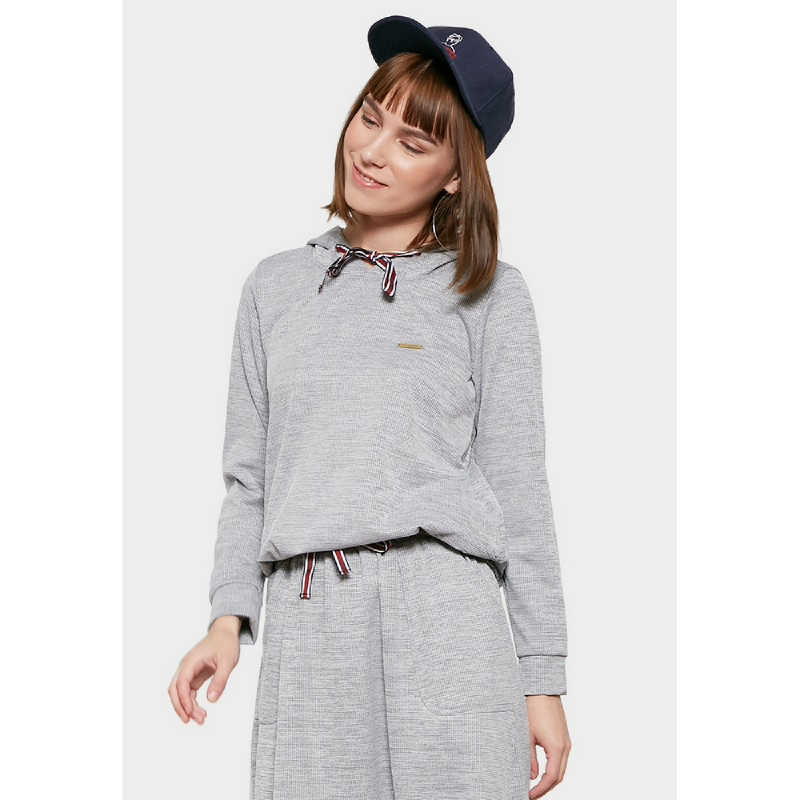 Graphis Knit Top Hoodie Grey