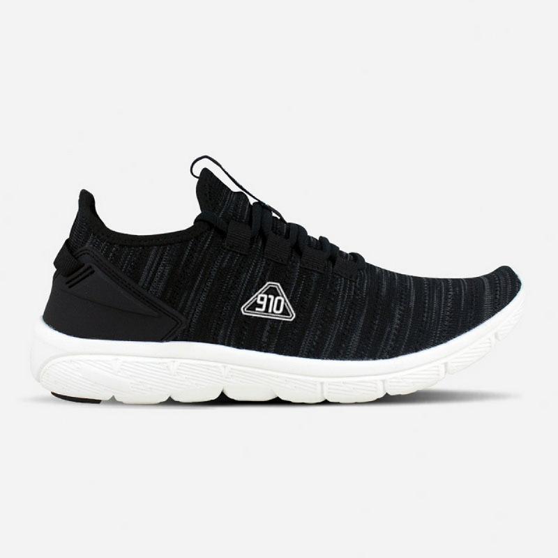 910 NINETEN Amaru Sepatu Olahraga Lari Unisex - Hitam Putih