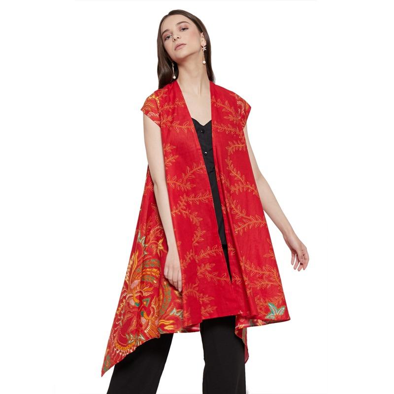 WINGGO Astari Outer Batik Vest Red