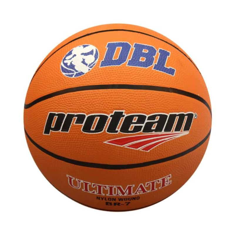 PROTEAM Bola Basket Rubber Ultimate Size 7 ORANGE