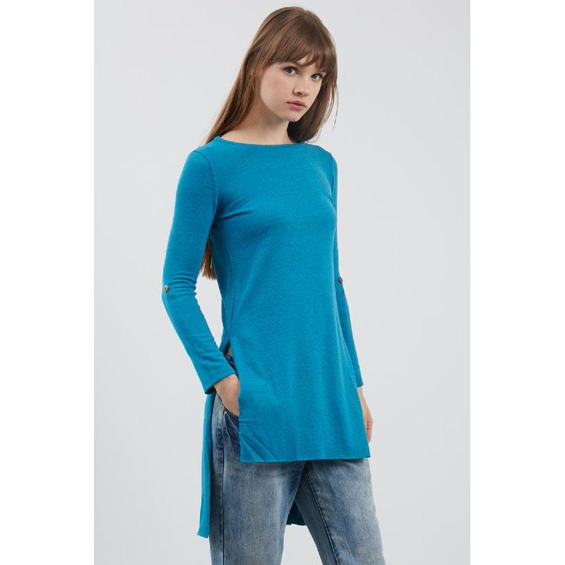 AMO Long Knit Blouse Tosca