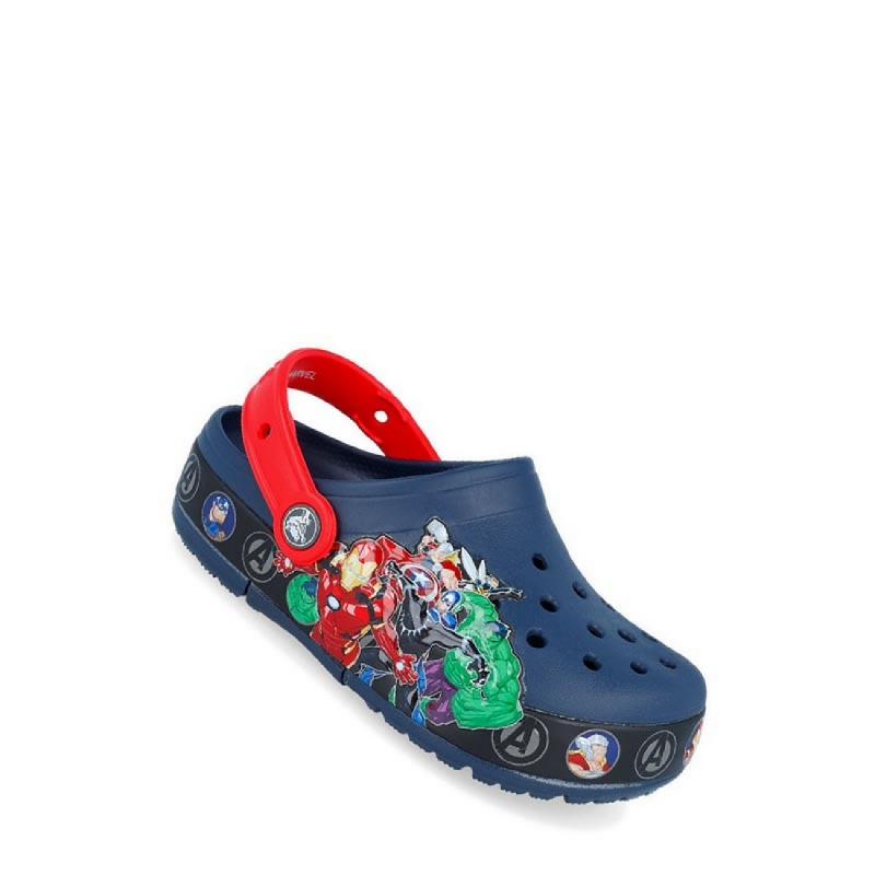 Crocs Fun Lab Marvel Band Lights Clog Unisex Kids Sandal Dark Blue