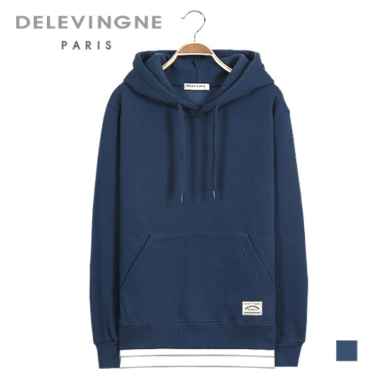 Claire Layered Dark Blue Hoodie Long Sleeve Big Size Unisex