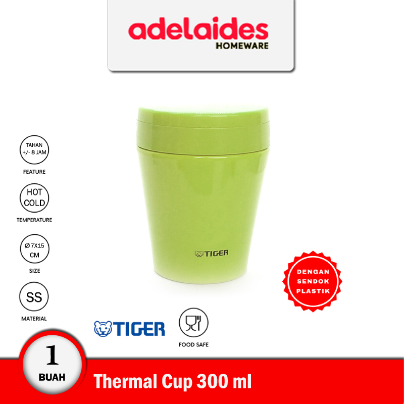 Tiger Thermal Soup Cup Stainless Steel 300 ml MCCC030 Hijau