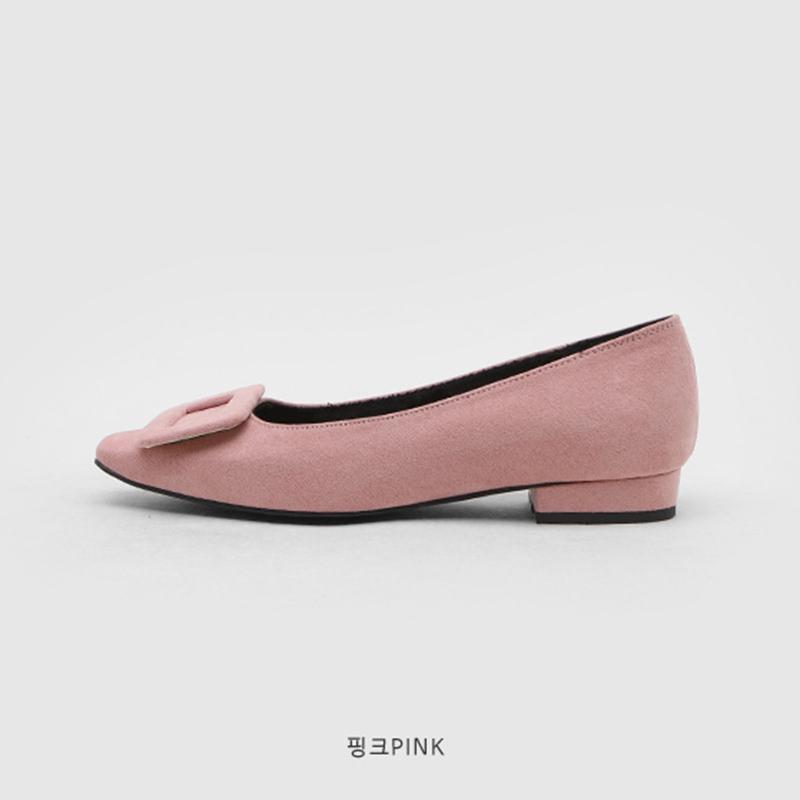SAPPUN Adeline Fleece Inside Flats (2cm) - Pink