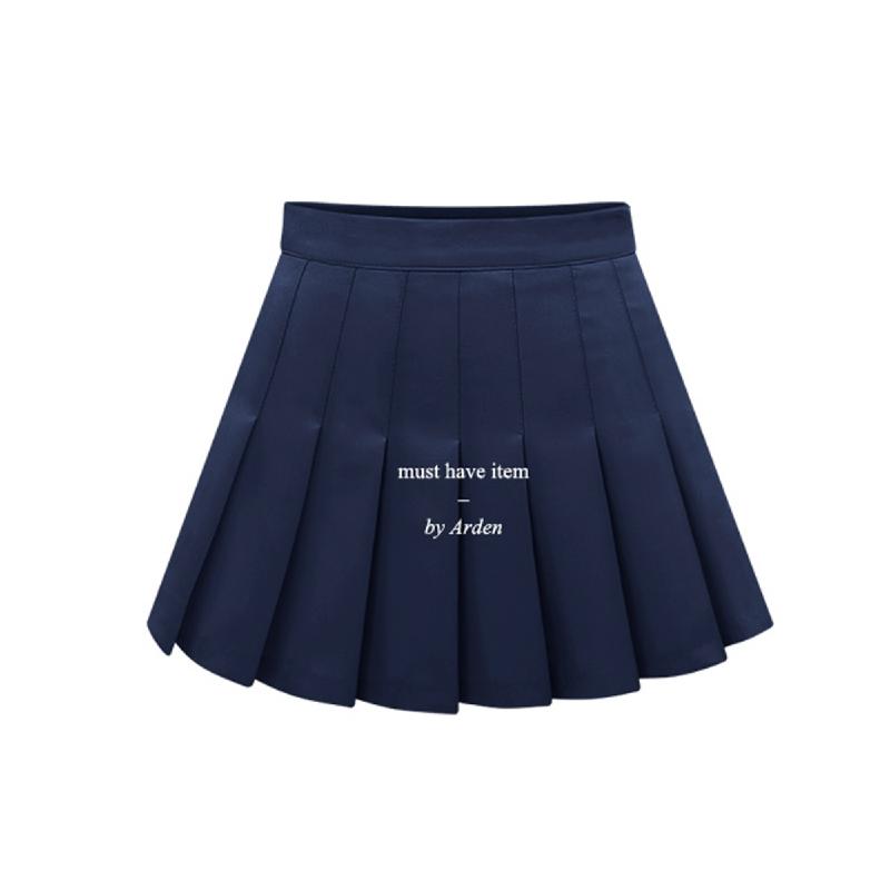 Arden Eli Pleated Skirt Pants PT1225 - Navy