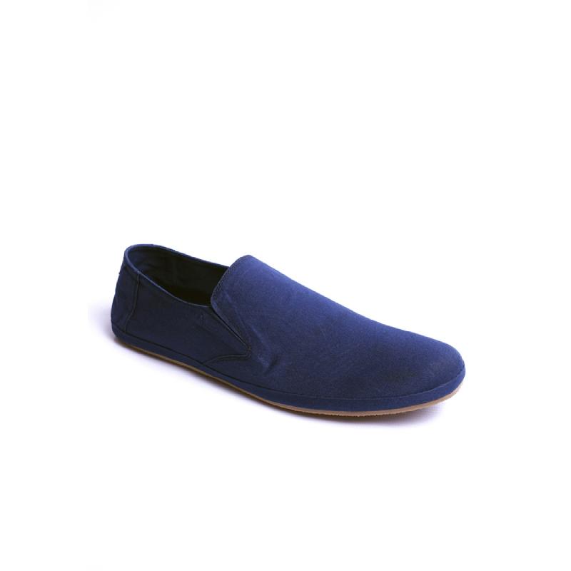 Blue Canvas Slip-On ND08