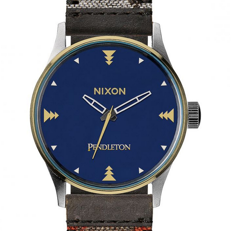Nixon A3772615 Sentry 38 Leather Washed