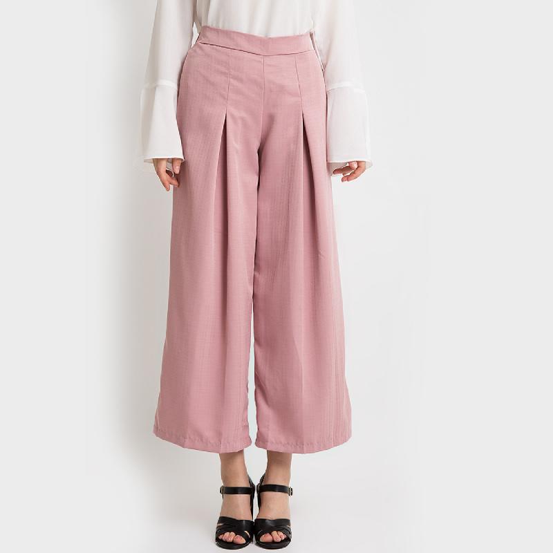 Duapola Loose Kulot Balotelli Pants Pink