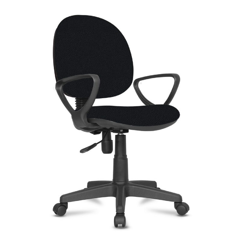Kursi kerja kursi kantor BK Series - BK24 Black - PVC Leather