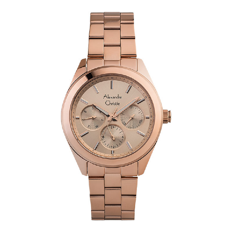 Alexandre Christie AC 2903 BF BRGLN Ladies Rose Gold Dial Rose Gold Stainless Steel Strap