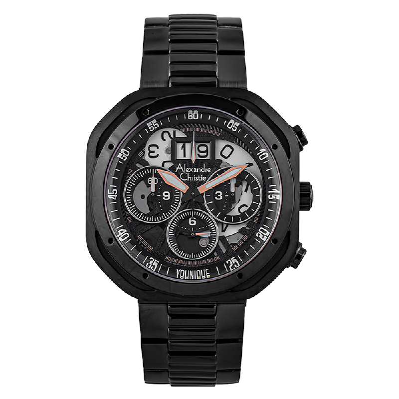 Alexandre Christie AC 6468 MC BIPBA Younique Man Chronograph Skeleton Dial Stainless Steel