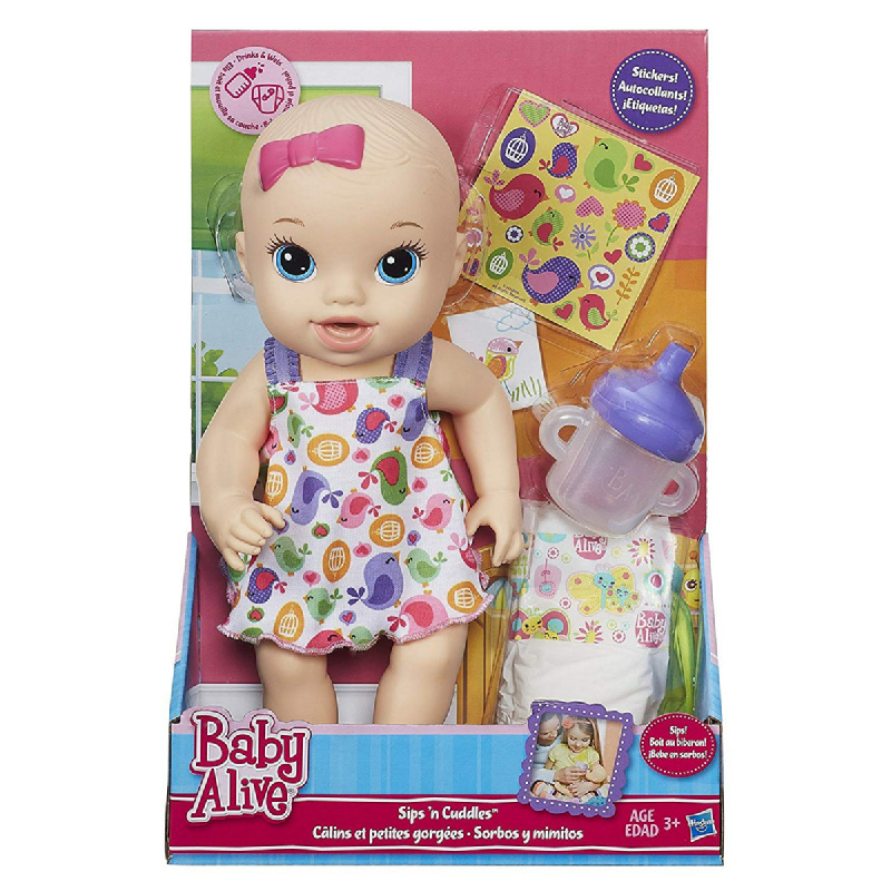 Baby Alive Sips 'n Cuddles Blonde - Modern Outfit