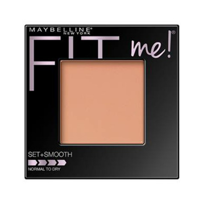 Maybelline Face Powder Fit Me Two Way Cake Set+Smooth - 225 Medium Buff