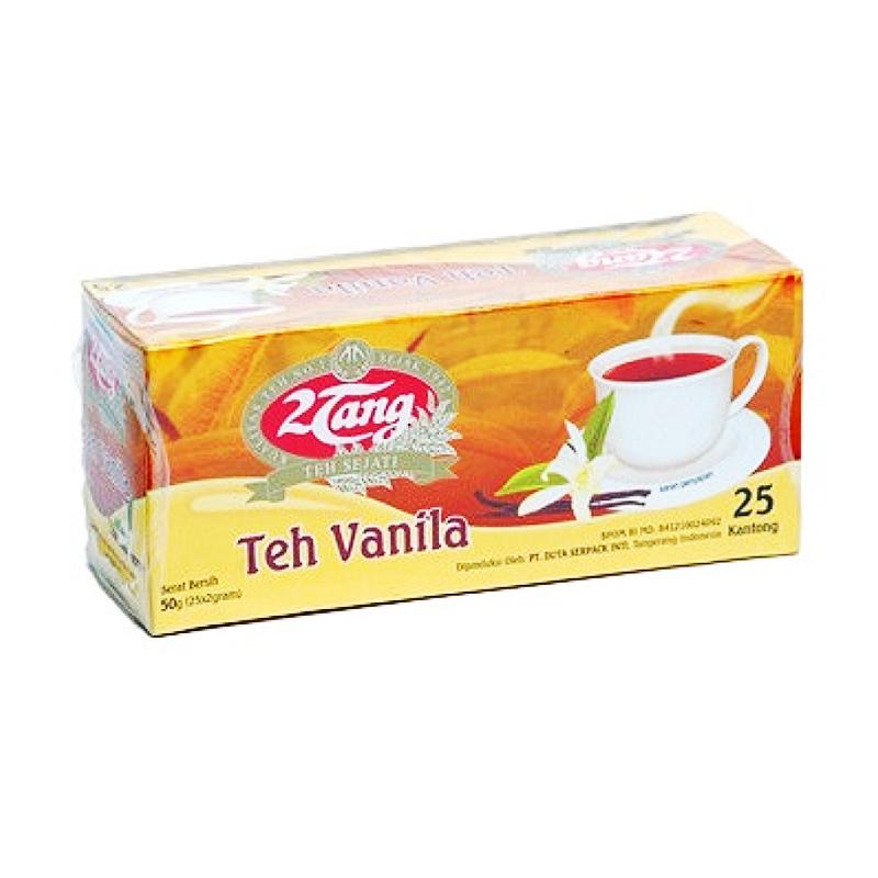 2 Tang Teh Hitam Celup Aroma Vanila Isi 25 Pcs