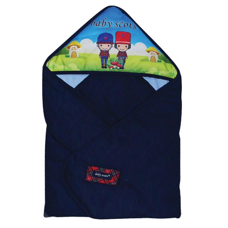 Baby2go Baby Blanket PrintBSB2101 Navy