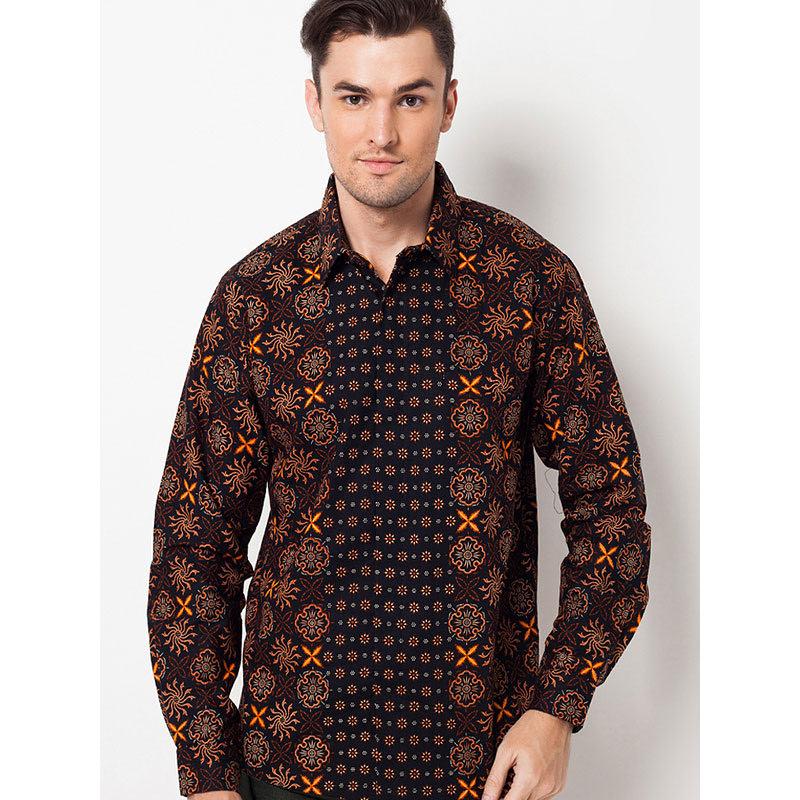 Batik Lengan Panjang A-LS-0730-BLK Black