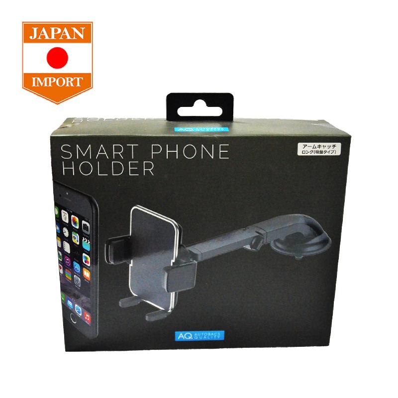 AQ Suction Long Arm Phone Holder Akesosris Mobil Tempel HP GPS [Japan Import] SH04 Black