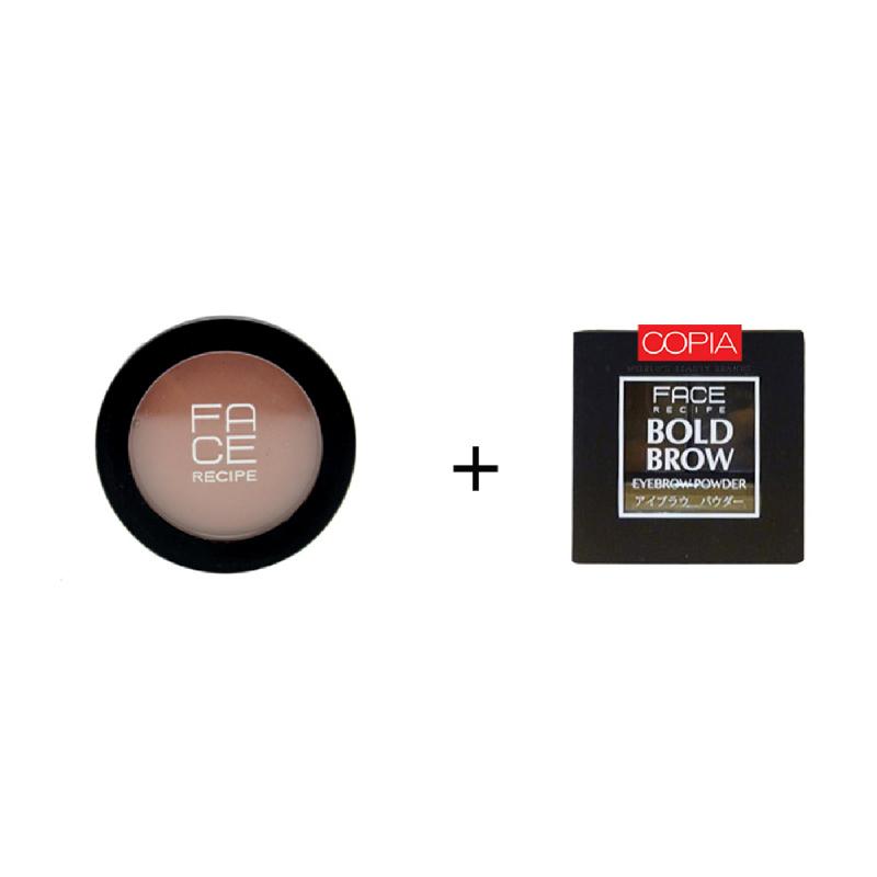 Face Recipe Gems Blam Ruby Red+Face Recipe Bold Brow Medium To Dark