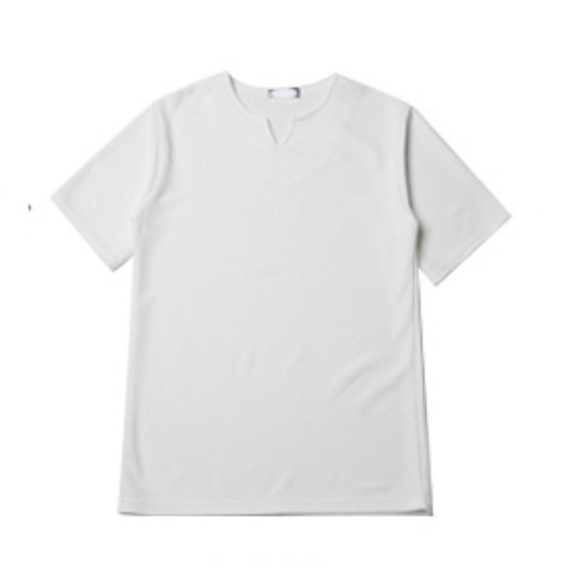 [BL1118]Embo V Vent Short Sleeve T-shirt - White