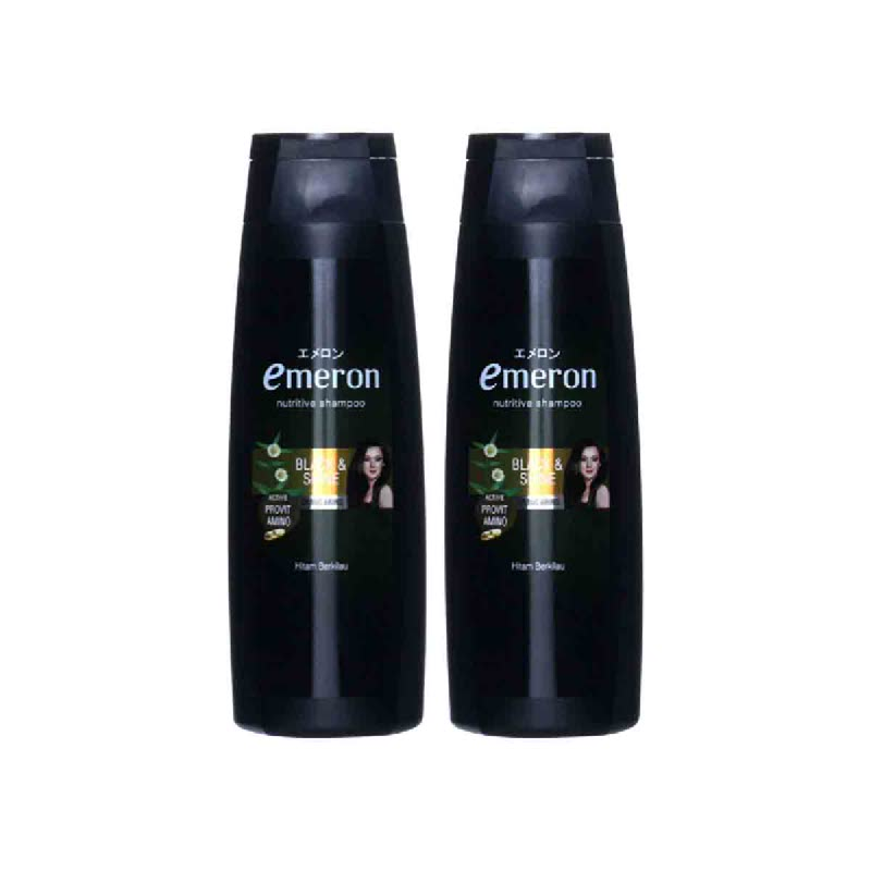 Emeron Shp Black Shine Hitam Btl 340Ml (Buy 1 Get 1)