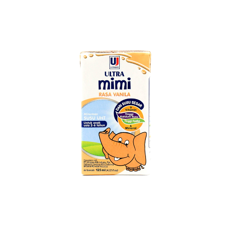 Ultra Mimi UHT  Vanilla X-Tra Cal 125Ml
