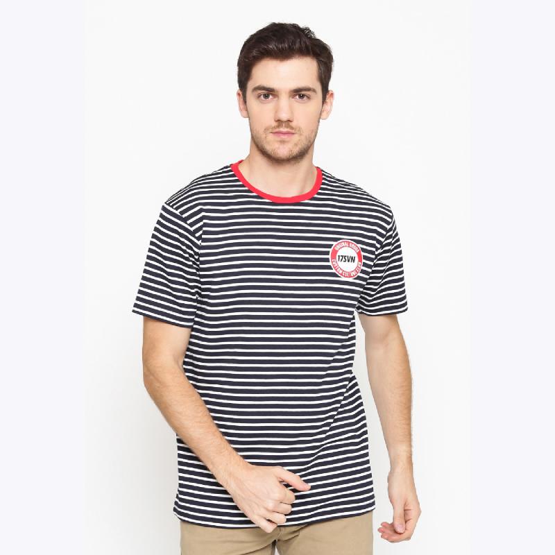 17Seven Sater Men Tshirt - Stripe Black White