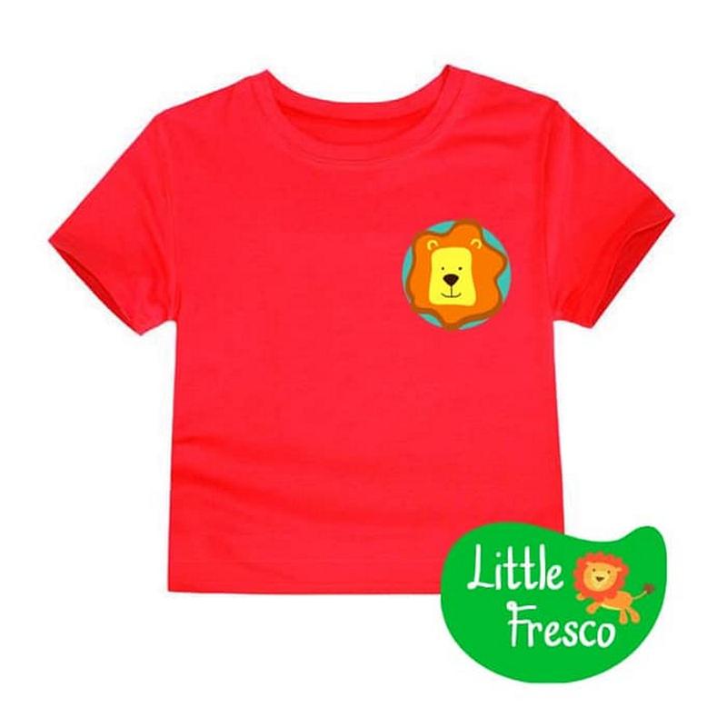 Little Fresco - Kaos Anak Lion Head Merah