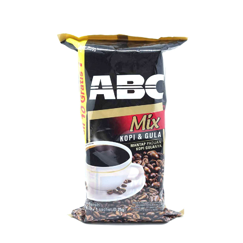 Abc Mix Kopi+Gula Bag 10 Sachet