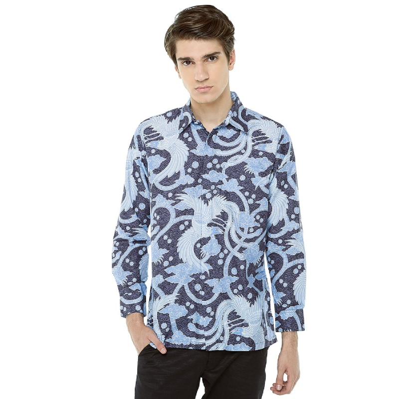 Adinata Batik Andreo Hem Panjang Blue