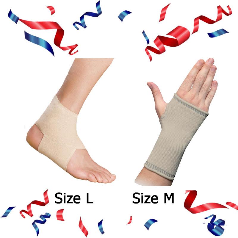 Ankle Brace - EAN001 (Size L) + E-Life Palm Brace Size M