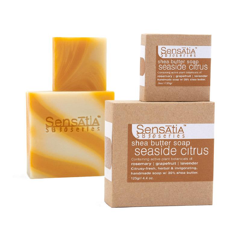 seaside citrus shea butter soap - 25gr