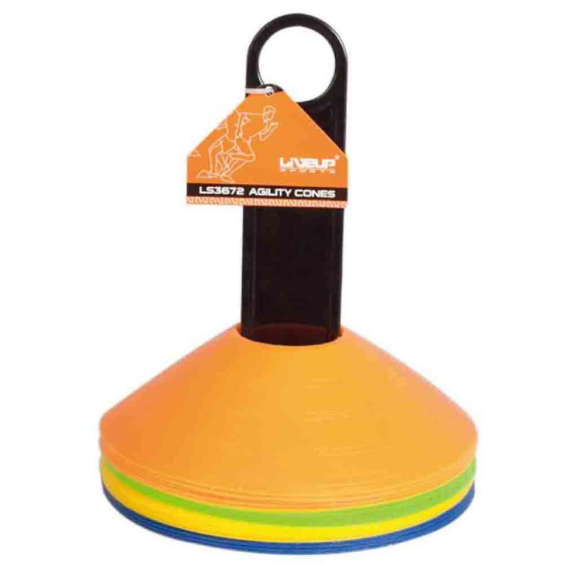 LIVEUP Agility Cones with Rack 19x20.5