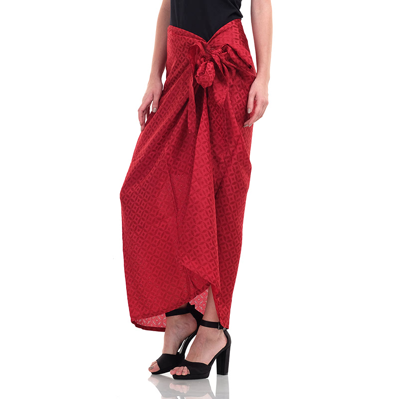 Batik Chic Rok Kain Polos Maroon