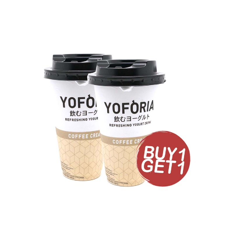 Yoforia Coffee Cream Botol 200 Ml (Buy 1 Get 1)