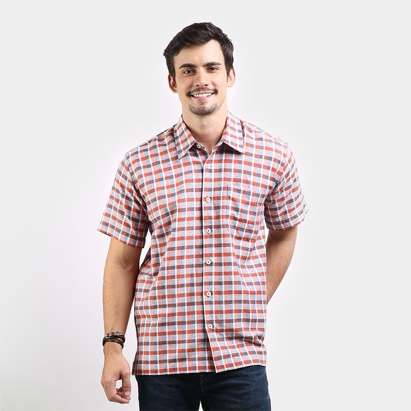 Orange Shirt Non Solid FSNS502O1