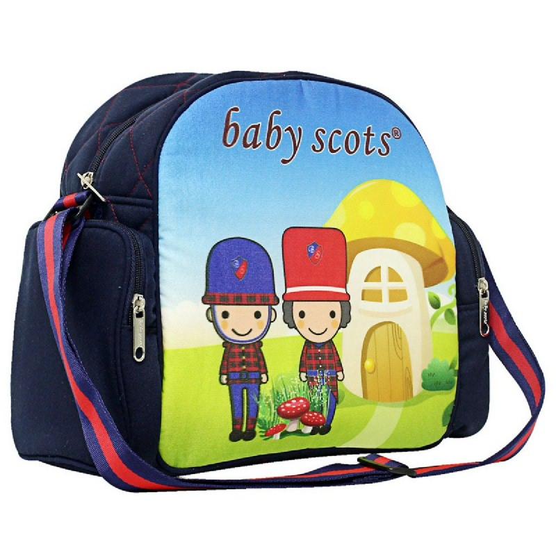 Baby Scots Medium Bag PrintBST2201 Navy
