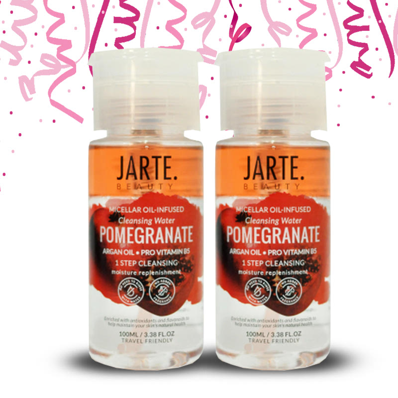 Jarte Beauty Micellar Water Infused Cleansing Water Pomegranate (2pcs)