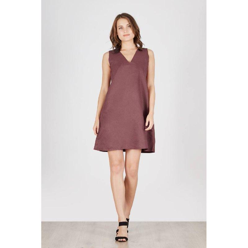 Priska Slip Dress Teracota