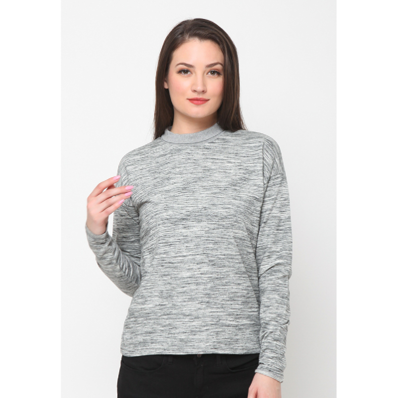 Agatha Sunday Morning Sweater In Grey Grey