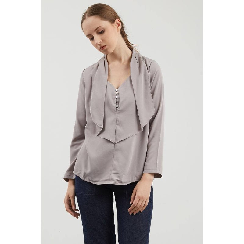 Follie Layer Top In Grey