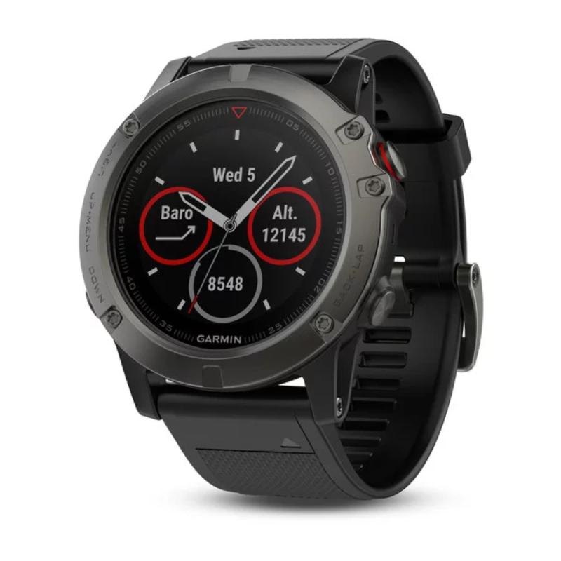 Garmin smartwatch Fenix 5X Slate Gray Sapphire with Black Band