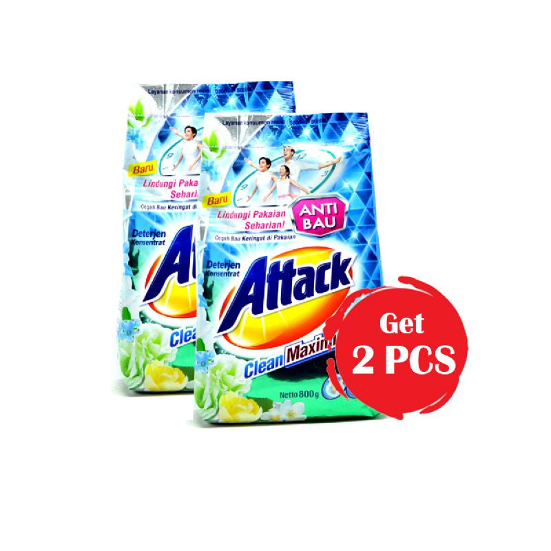Attack Detergent Clean Max 800 Gr (Get 2)