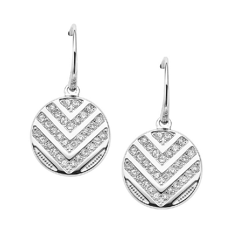 Anting Fossil Anting JF02668040 Silver Plated Vintage Glitz Silver