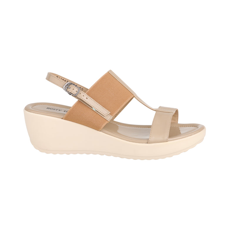 Mocca & Beige Wedge