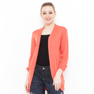Voyant by Megumi Balero With Button On Long Sleeves Orange