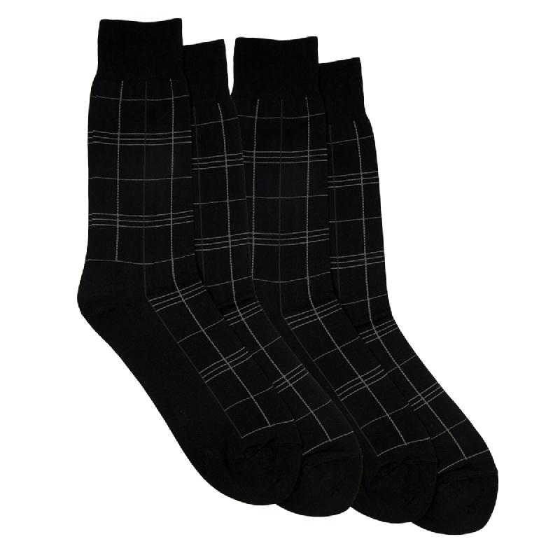 Gunze Men Casual Socks 1Box isi 2 Pasang 15SG1 Black