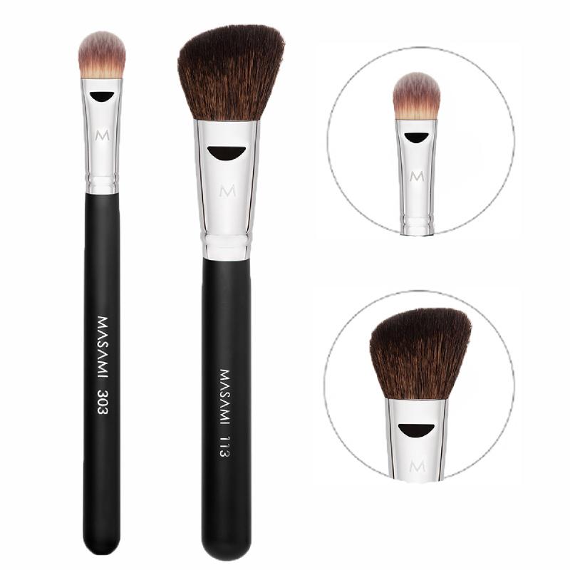 Masami 303 Concealer Brush + 113 L Angled Contour Brush